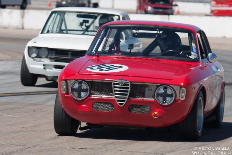 David DeRosier in his 1965 Alfa Romeo Giulia Sprint GT. © 2014 Victor Varela