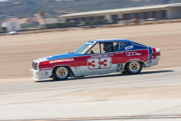 Comedian Adam Carolla drives the ex-Paul Newman 1977 Datsun 200SX. © 2014 Victor Varela