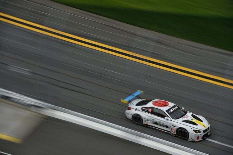 BMW M6 GTLM Art Car, designed by American artist John Baldessari
