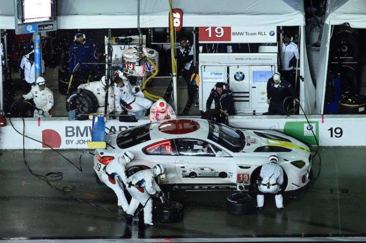 BMW M6 GTLM Art Car, designed by American artist John Baldessari