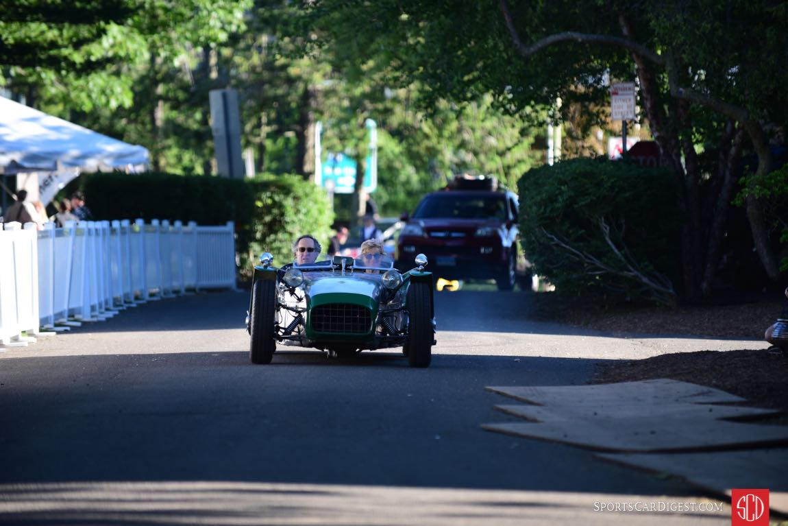 Lotus 7 enters Sherman Park.