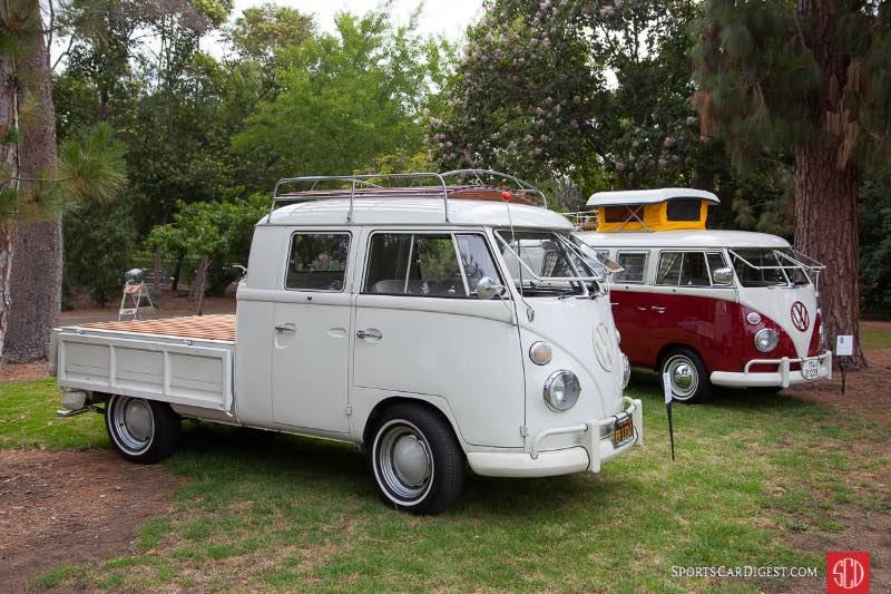 (L-R) 1965 Volkswagen Dual Cab Pickup, 1967 Volkswagen Westfalia - Camper