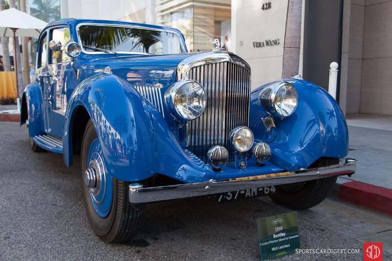 1939 Bentley 4 1/4 Litre Pillarless Saloon by Vanvooren, owned by Nick Lemieux