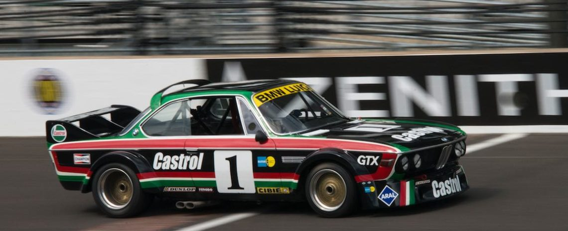 Steve Walker - 1973 BMW CSL crosses the Bricks first winning his group.