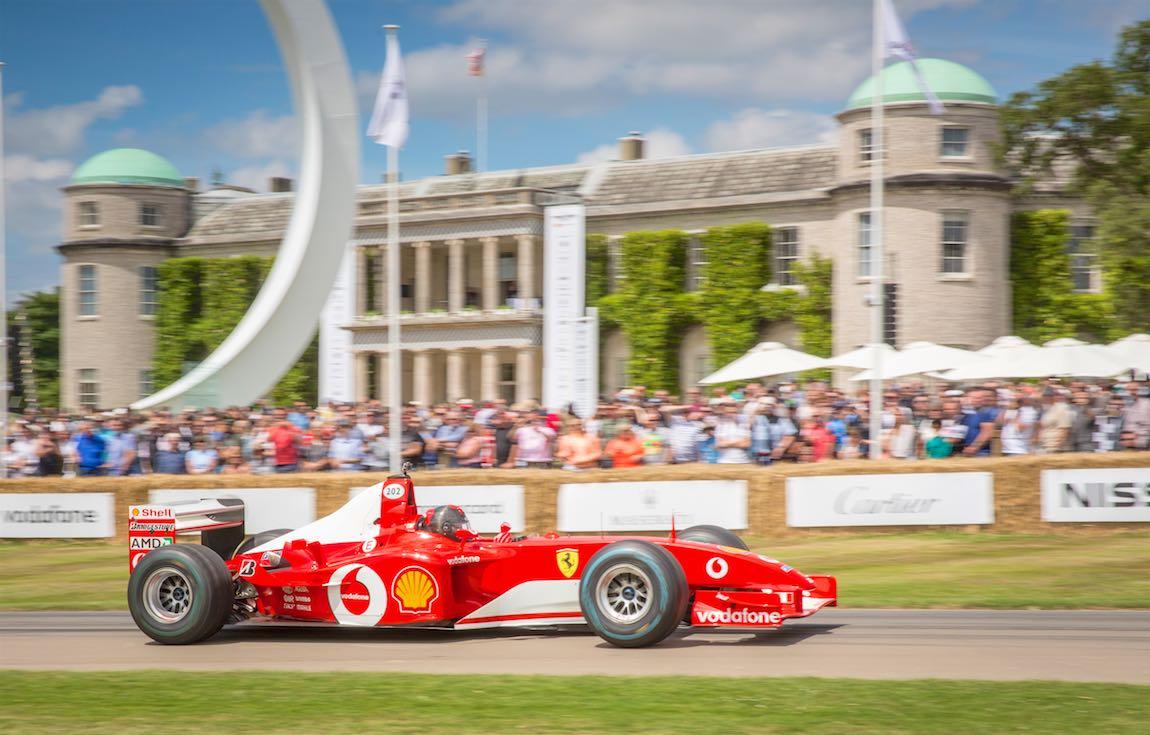 Modern Ferrari F1 wowed the crowds as well