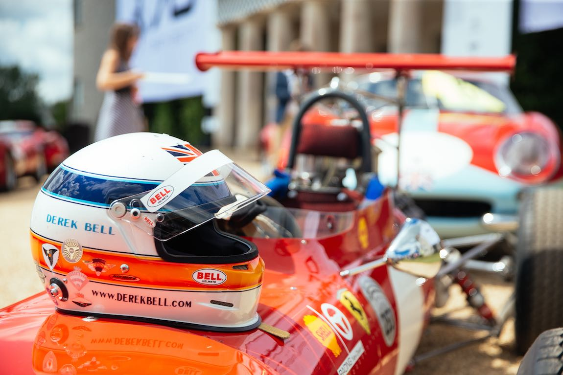 Derek Bell was among the drivers celebrating the Ferrari birthday (photo: Sam Todd)