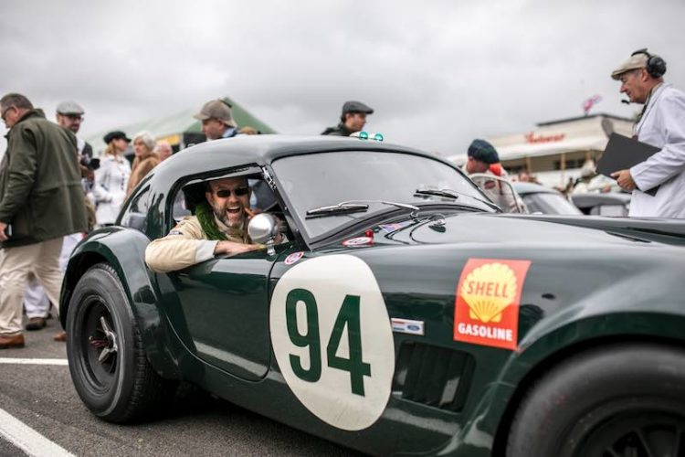 Michael Gans in the RAC Tourist Trophy race winning AC Cobra (photo: Nicole Hains)