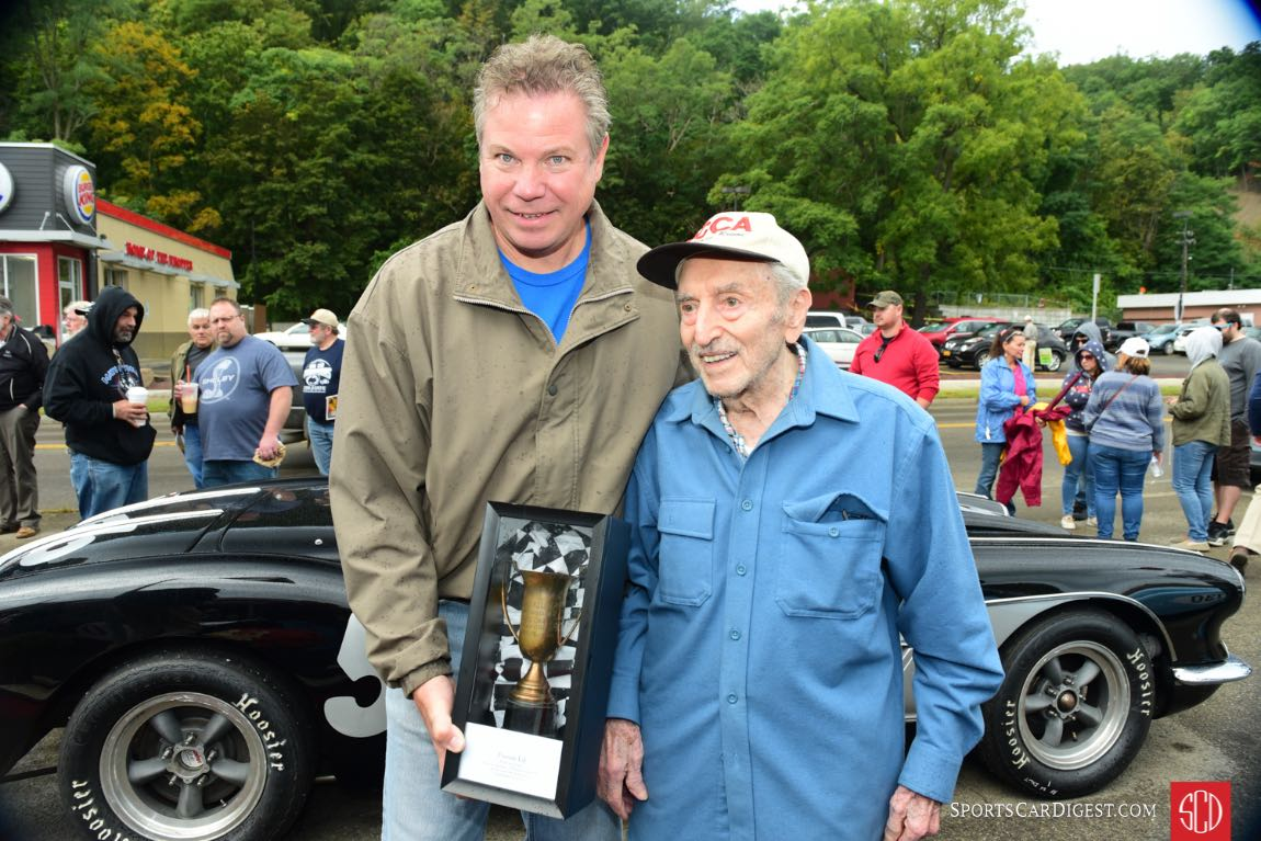 Otto reunited with the 1949 Grand Prix trophy.