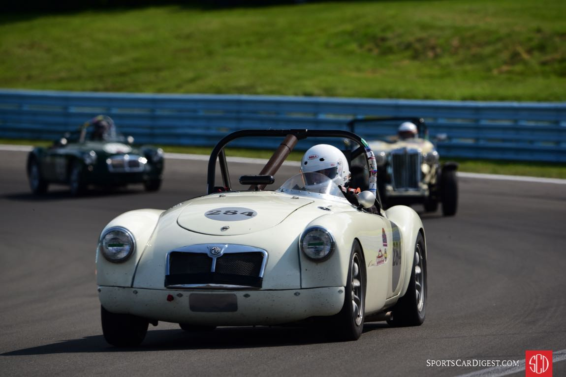 1961 MGA Steve Konsin on his way to 3rd in the Collier Cup.