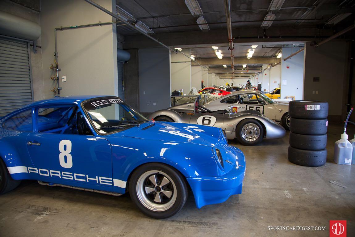 The Porsche garage