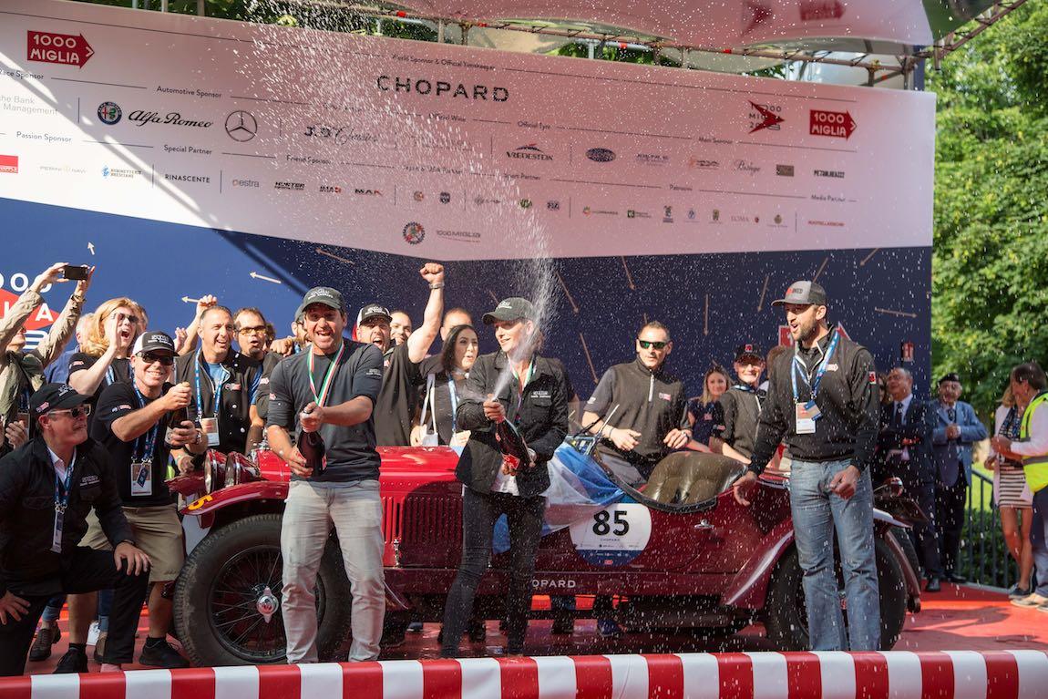 Overall Winners - Juan Tonconogy and Barbara Ruffini Alfa Romeo 6C 1500 GS Testa Fissa of 1933