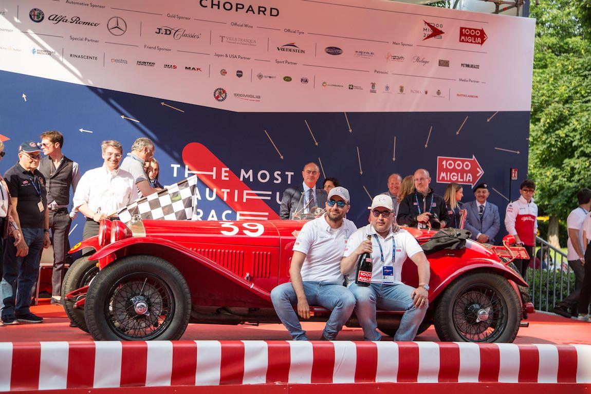 Third Place Overall - Brescia Andrea Vesco and Andrea Guerini on board the 1929 Alfa Romeo 6C 1750 Zagato