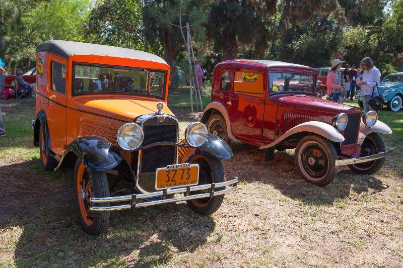 [L-R] 1932 American Austin Panel Truck, 1934 American Austin Sedan