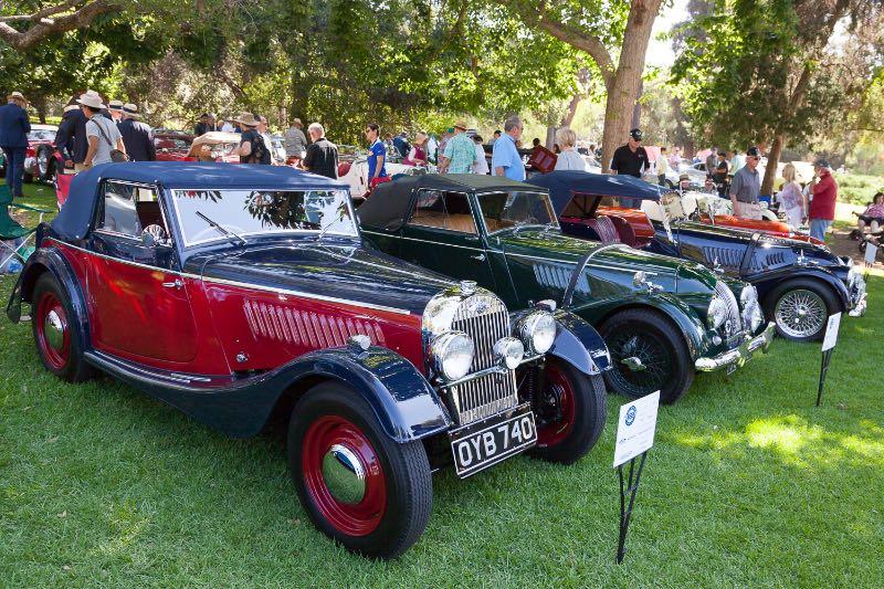 [L-R] 1952 Morgan +4 Drophead Coupe, 1964 Morgan +4, 1967 Morgan SuperSport 4