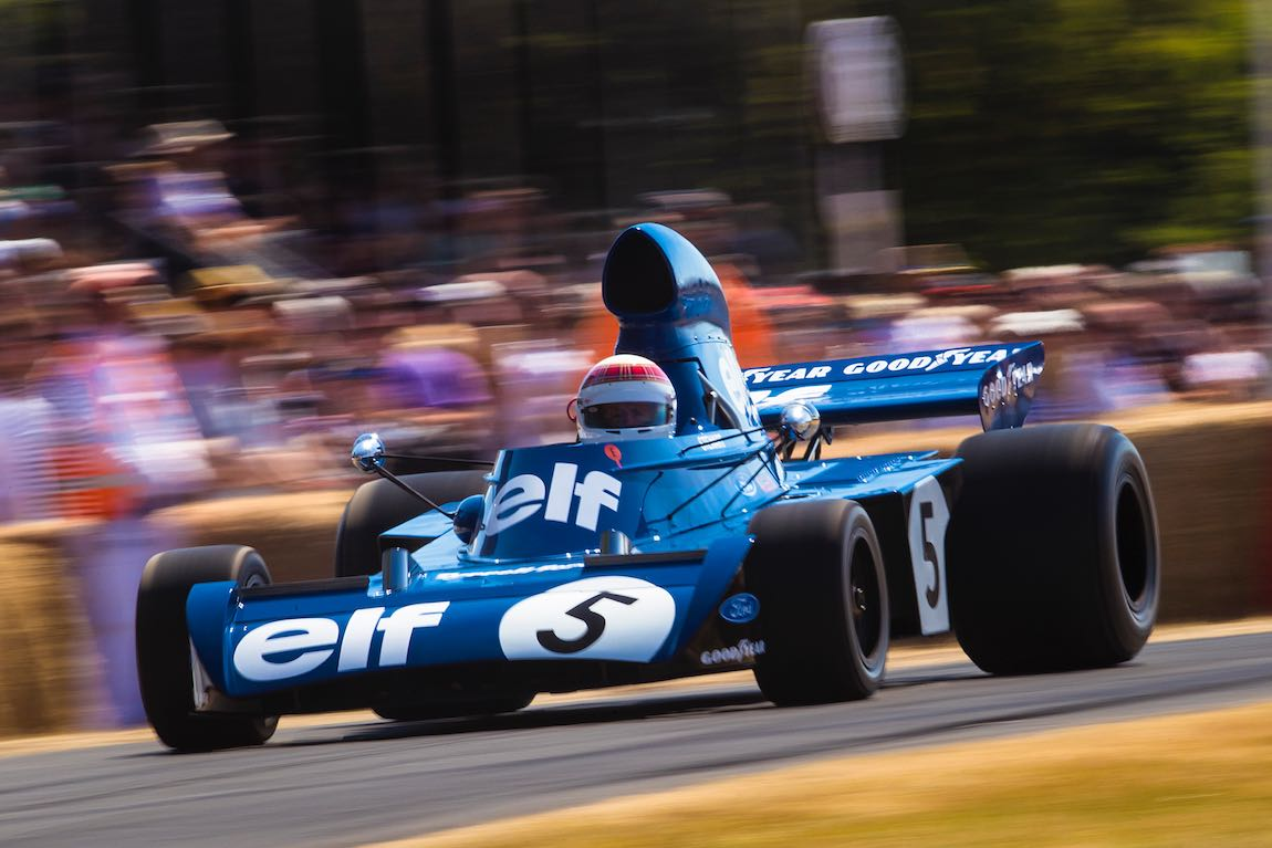 Sir Jackie Stewart in the Tyrrell 003 owned by his son, former F3000 driver Paul Stewart (Photo: Drew Gibson)