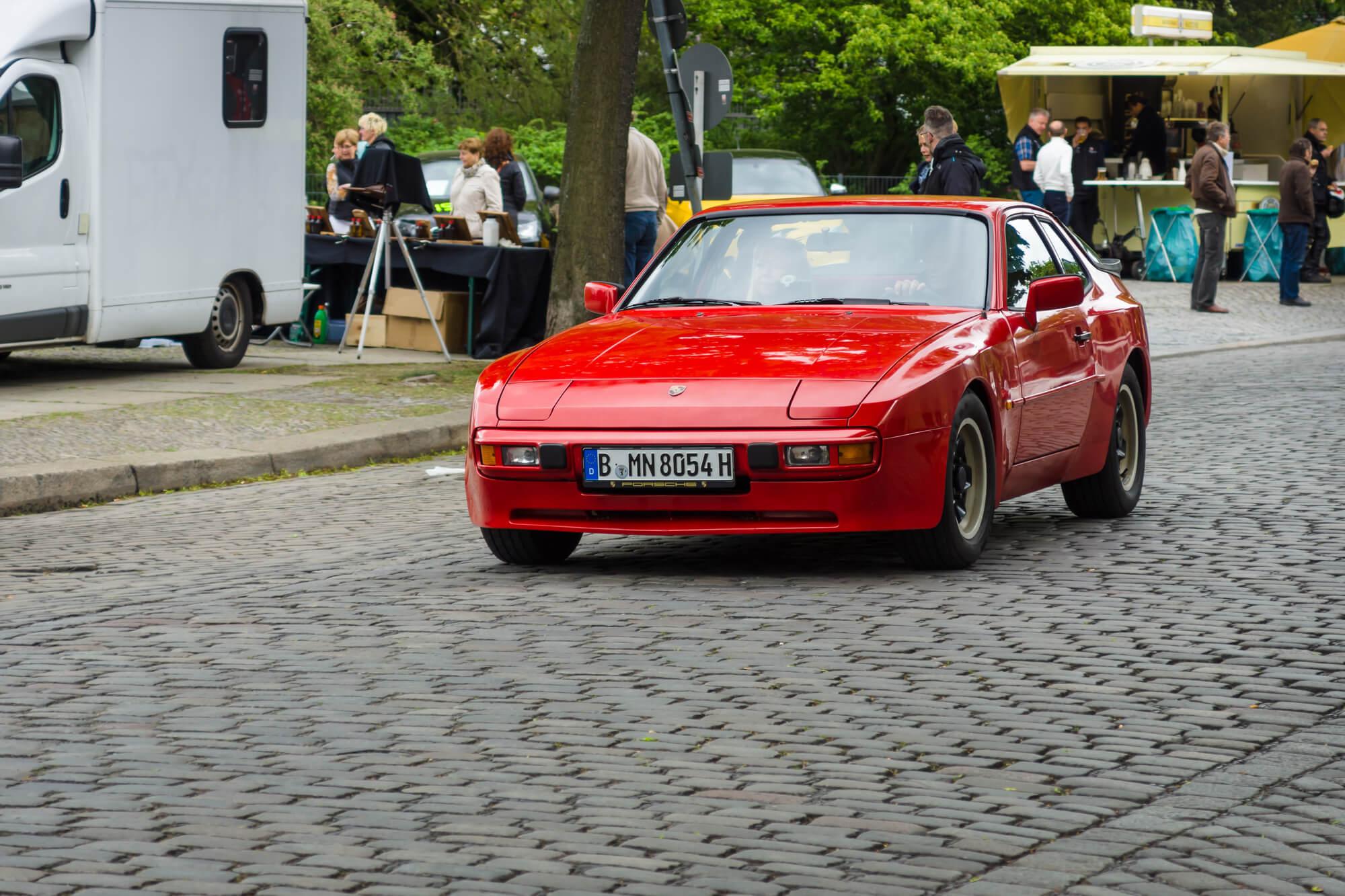 Porsche 924 on street