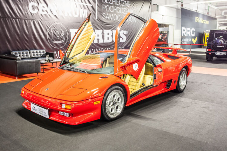 lamborghini Diablo opened up