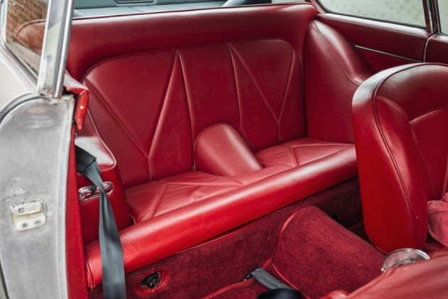 rear seat of DB6