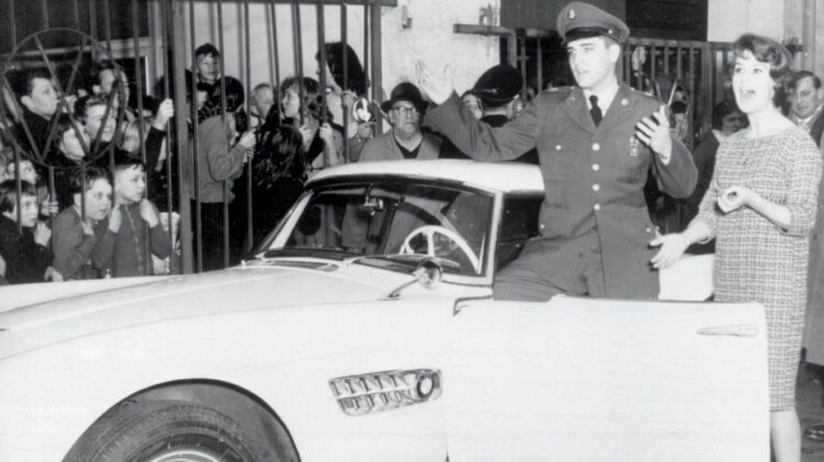 Elvis in white BMW