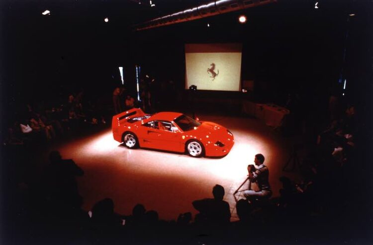 Ferrari f40 presentation