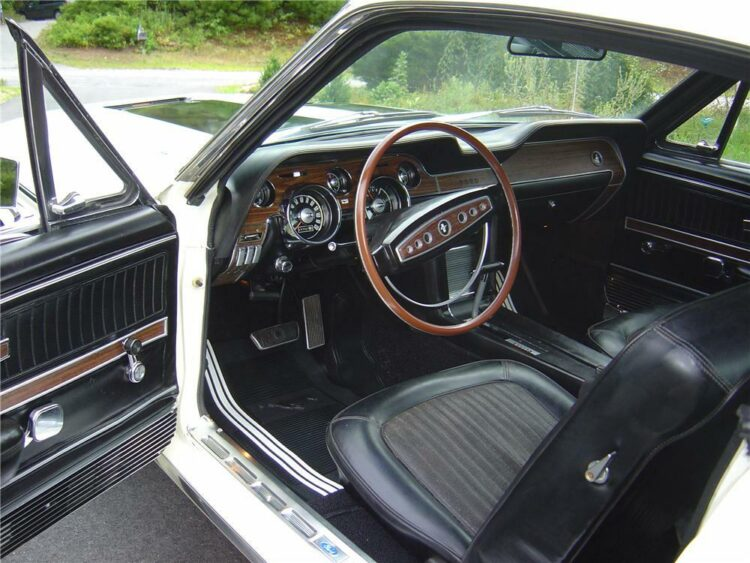 Interior of 1968 Ford Mustang