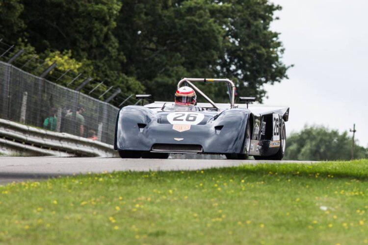 historic sports car driving