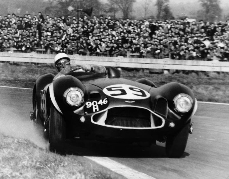 Stirling Moss in the Aston Martin DB3s