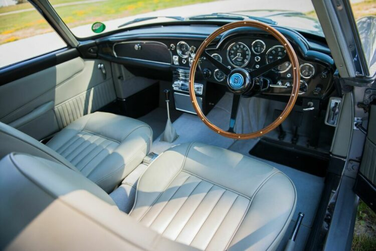 Interior of Aston Martin DB5