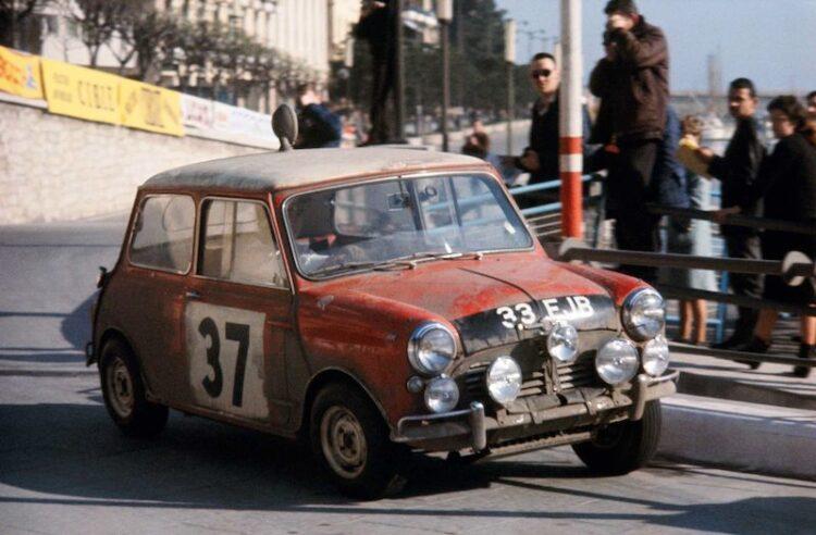 Paddy Hopkirk in Mini Cooper