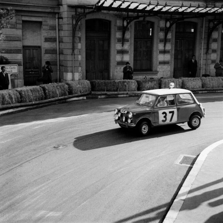 number 37 mini cooper at monte carlo rally