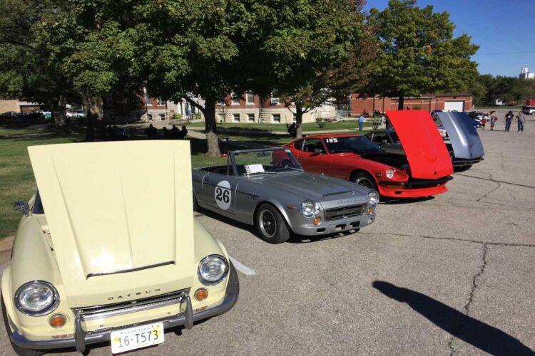 car show at lake Garnett Grand Prix Revival