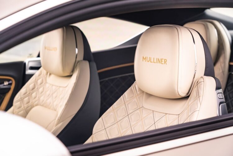 Front seat of Continental GT Mulliner Coupé