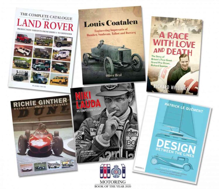 motoring book shortlist