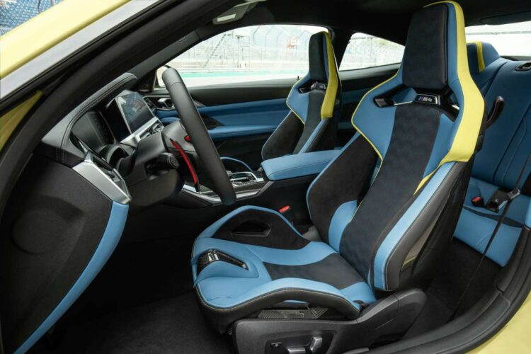 Interior of M4 coupe