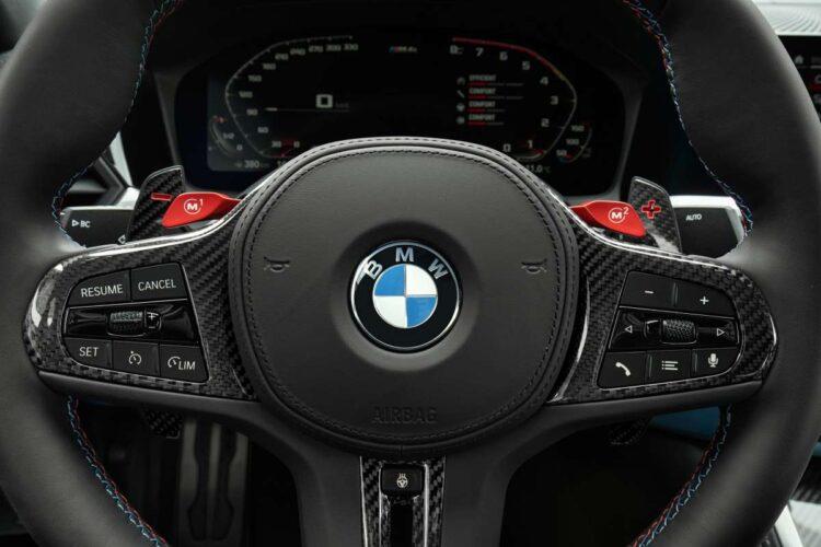 Steering wheel of BMW
