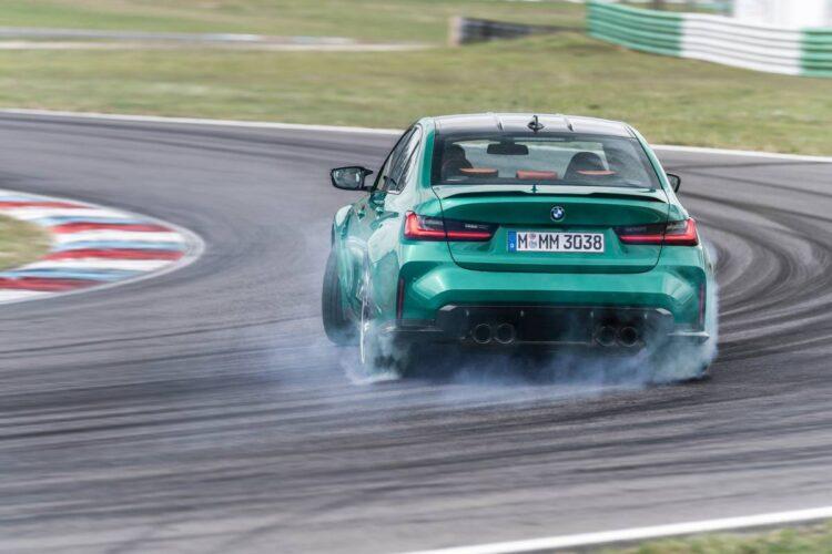 Drift in BMW M3 saloon
