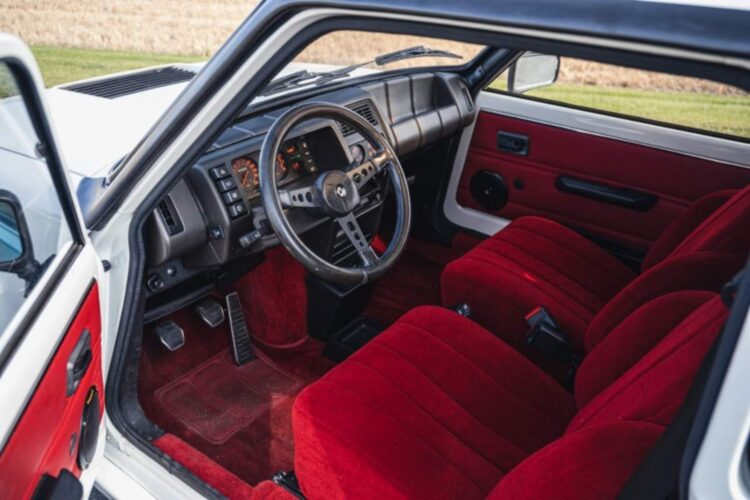 interior of 1983 Renault 5 Turbo 2