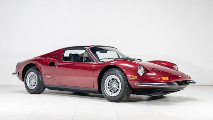 Front of 1974 Ferrari Dino 246 GTS