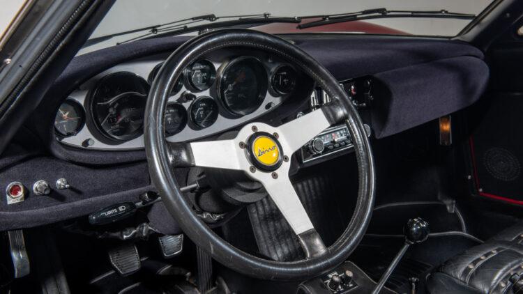 Steering wheel of 1974 Ferrari Dino 246 GTS