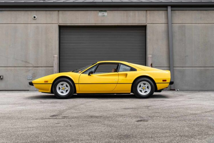 side of 1976 Ferrari 308 GTB Vetroresina