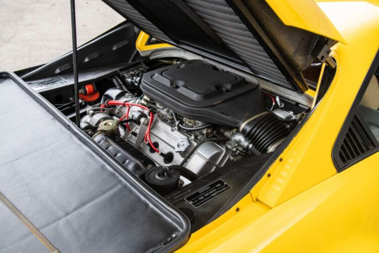 engine of 1976 Ferrari 308 GTB Vetroresina