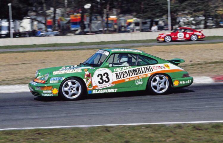 1990 Porsche Carrera Cup - First Race Winner Olaf Manthey in No. 33 Porsche 911 Carrera 2 Cup at Zolder Belgium