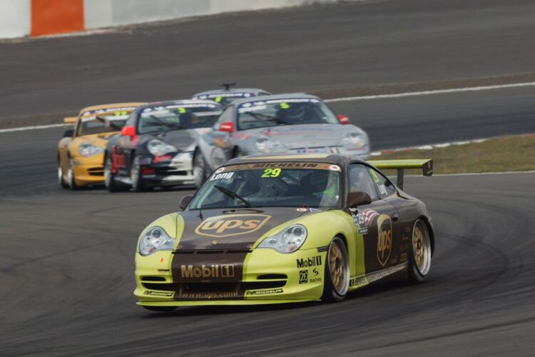 Patrick Long pilots the Porsche 911 GT3 Cup in Carrera Cup Germany