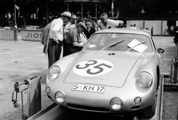 1960 Porsche 356 B 1600 GS Carrera Abarth GTL finished 1st in class and 10th overall driven by Herbert Linge and Hans Walter