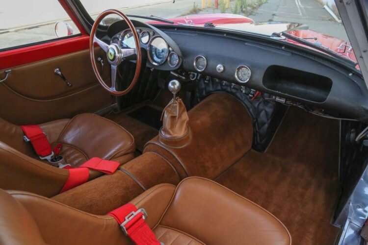 interior of 1958 Ferrari 250 GT LWB Berlinetta Tour de France