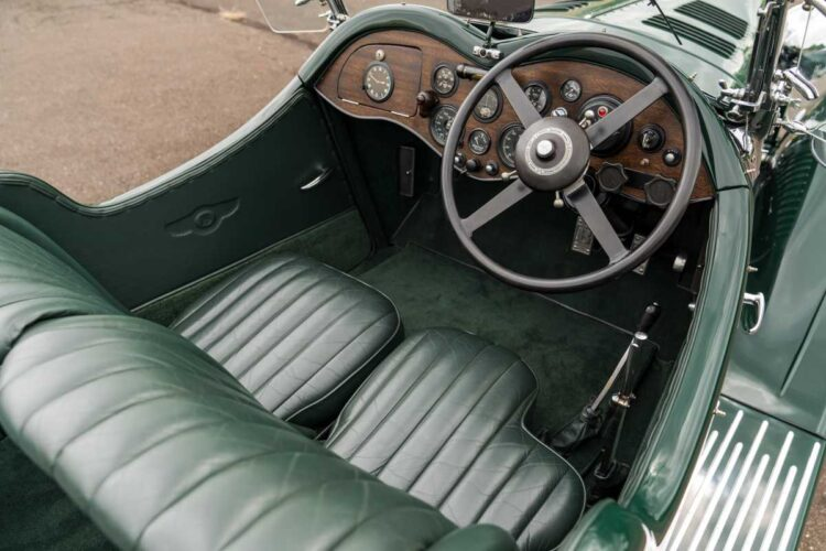 interior of 1930 Bentley 8-Liter Tourer