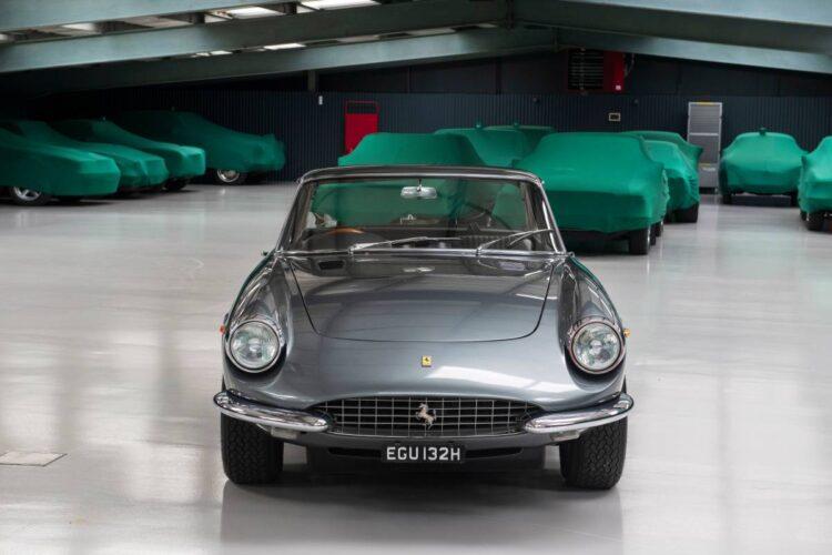 front of 1969 Ferrari 365 GTC Coupé