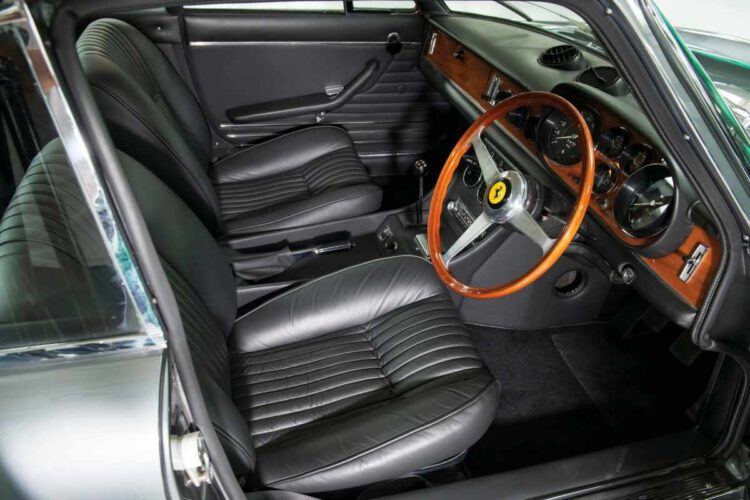 interior of 1969 Ferrari 365 GTC Coupé