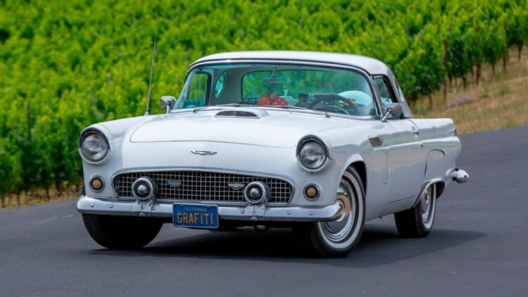 front of 1956 Ford Thunderbird