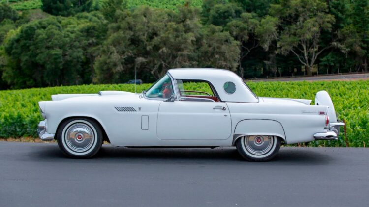 side of 1956 Ford Thunderbird